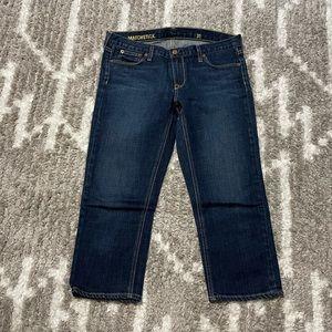 J. CREW Matchstick Crop Jeans Stretch Dark Rinse